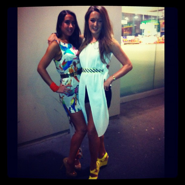 My homegirl @corkie88 rockin' the white party sass!!
