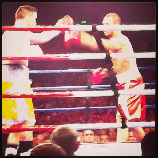 @quadecooper KO in 2 minutes. Came out to J COLE BLOW UP. Happy!  @sportsdealdaily