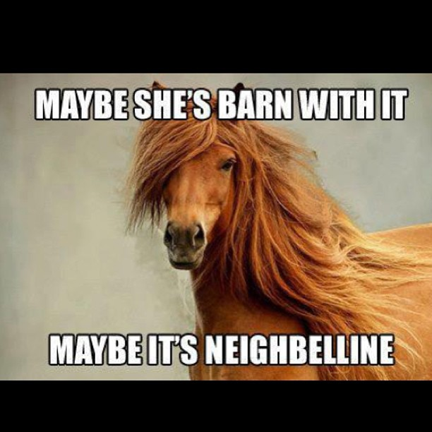 This is hair flipping fab! Mannne-by baaabaay. Silly Saturday indeed.