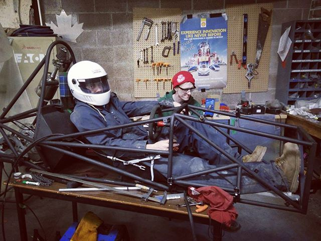 Dreaming of a rolling chassis 😴 #dalhousie #daleng #dal #fsae #dalfsae #halifax #novascotia #canada #eastcoast #racecar #frame #car #shop #fabrication #diy #custom #students #university #team #fsaeidiots #wehavenoshoptechs #livingonaprayer #sendhelp