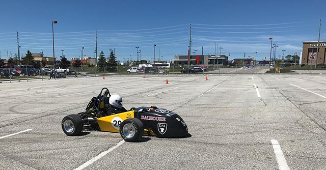 Thanks to all our sponsors, as well as the teams that helped us at competition! We had a good time at formula north, but unfortunately our engine failed after ripping around a bit. We have high hopes for when we have it going again soon! #fsae #formulanorth #dalhousie #racecar #daleng #formulastudent
