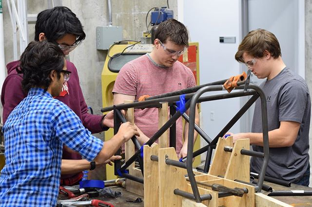 Throwback to frame assembly; time-lapse coming soon.  @dalfsae @dal_eng @dalhousieu