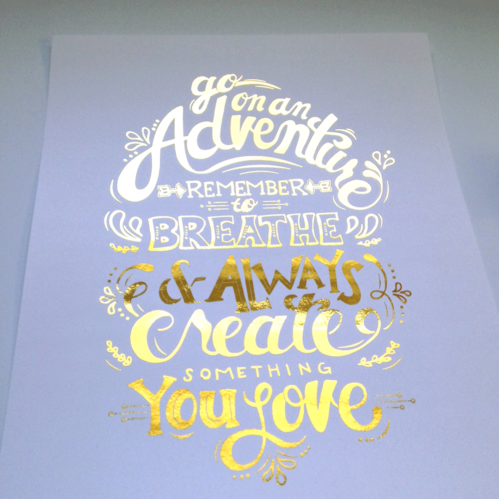 How gorgeous is this gold foil print designed by Tessa?! LOOOVE.