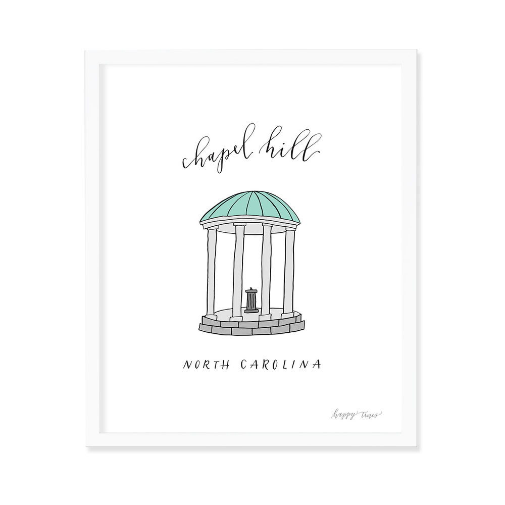 happy-tines-chapel-hill-art-print