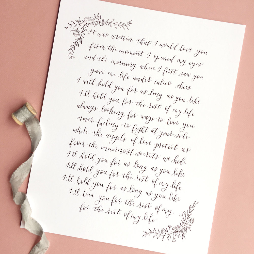 happy-tines-custom-calligraphy-wedding-vows