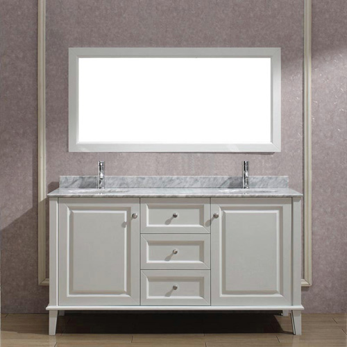 White Contemporary Double Vanity