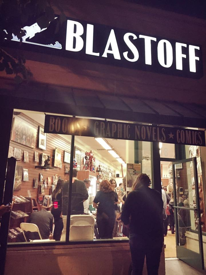 A photo of Blastoff from last year's Litcrawl.