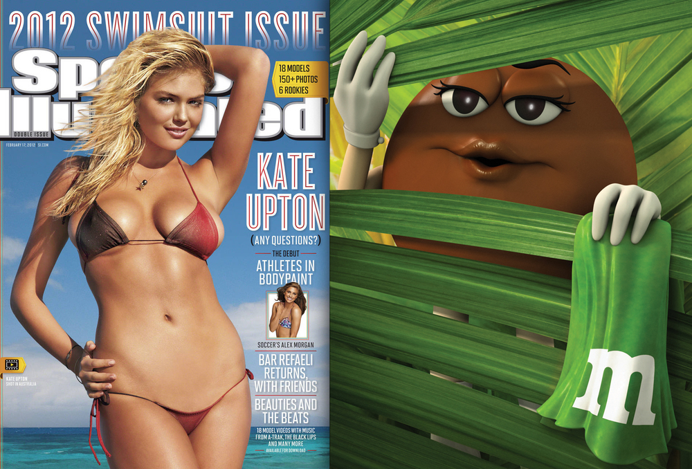Created the back cover for the 2012 Sports Illustrated Swimsuit Issue.