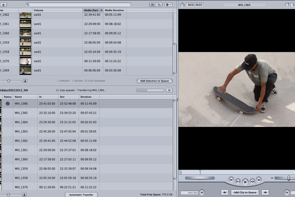 Footage Ingestion: Steve Dread of Bluetown Skateboards for Chicago Architecture Foundation. Edit: Final Cut Pro