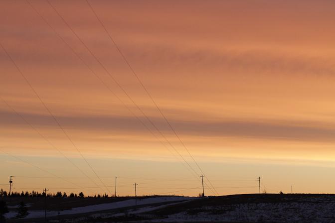 wires sunrise