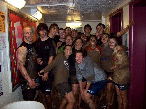 Every time I miss college, I go back to this photo.Check out my creepy grimace in the middle.
