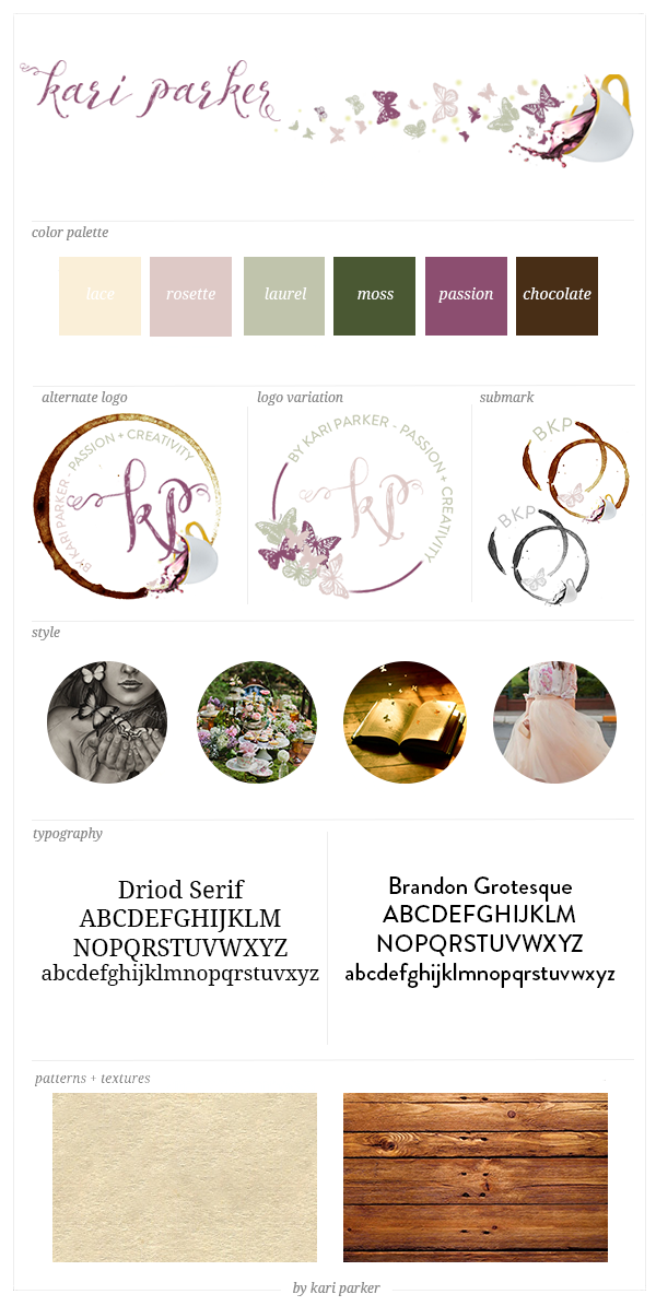 Brand Board for By Kari Parker