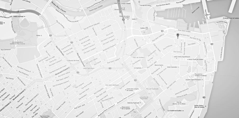 Condos à vendre Vieux-Québec 239 000 $ Le 47 des Remparts Vieux-Québec localisation