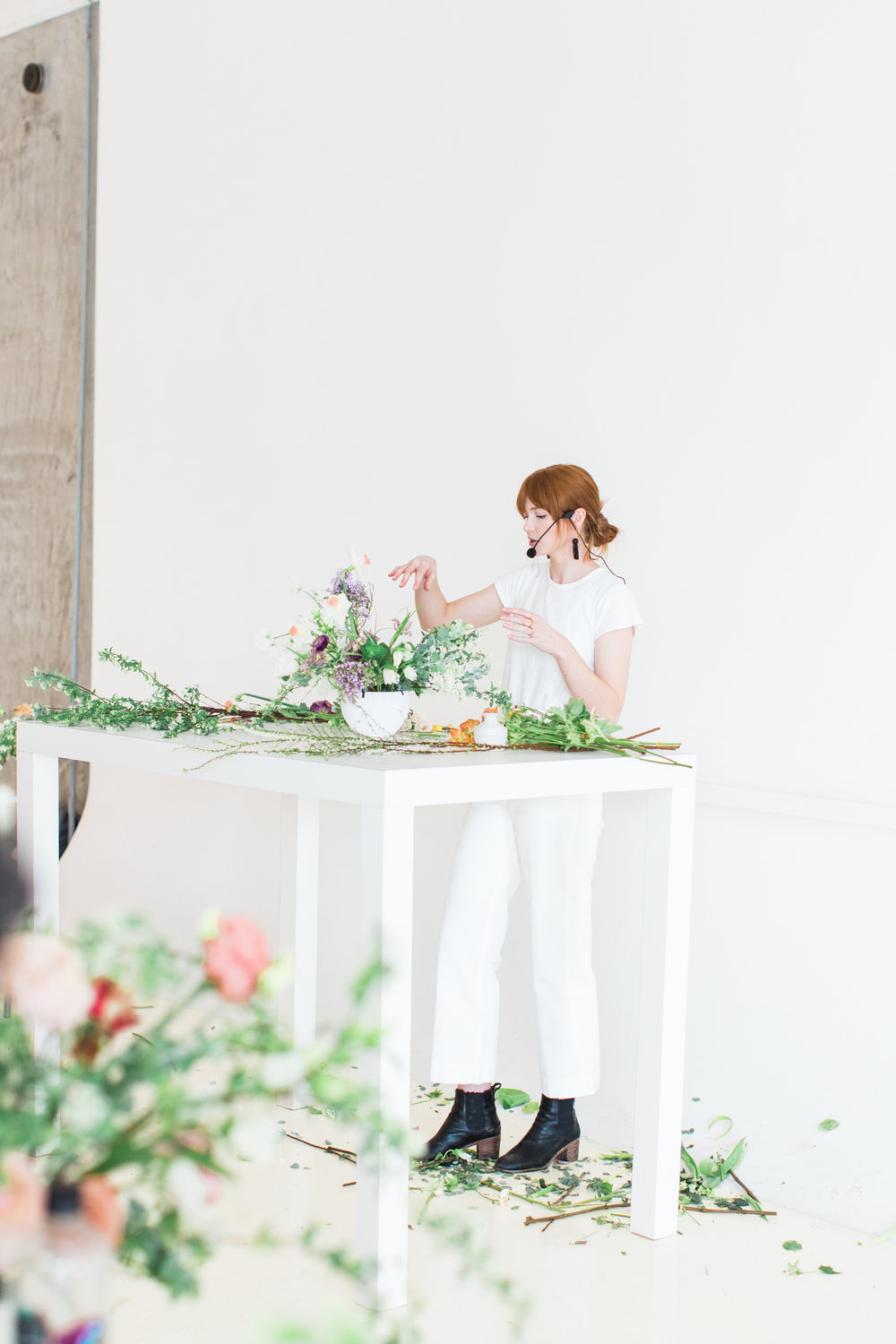 Kaylee is currently traveling the country teaching workshops with the floral wholesaler, Mayesh. To check out workshop dates & locations, click here. She also offers an online bouquet-making class on Skillshare. You can learn from Kaylee on Skillshare, here.  -