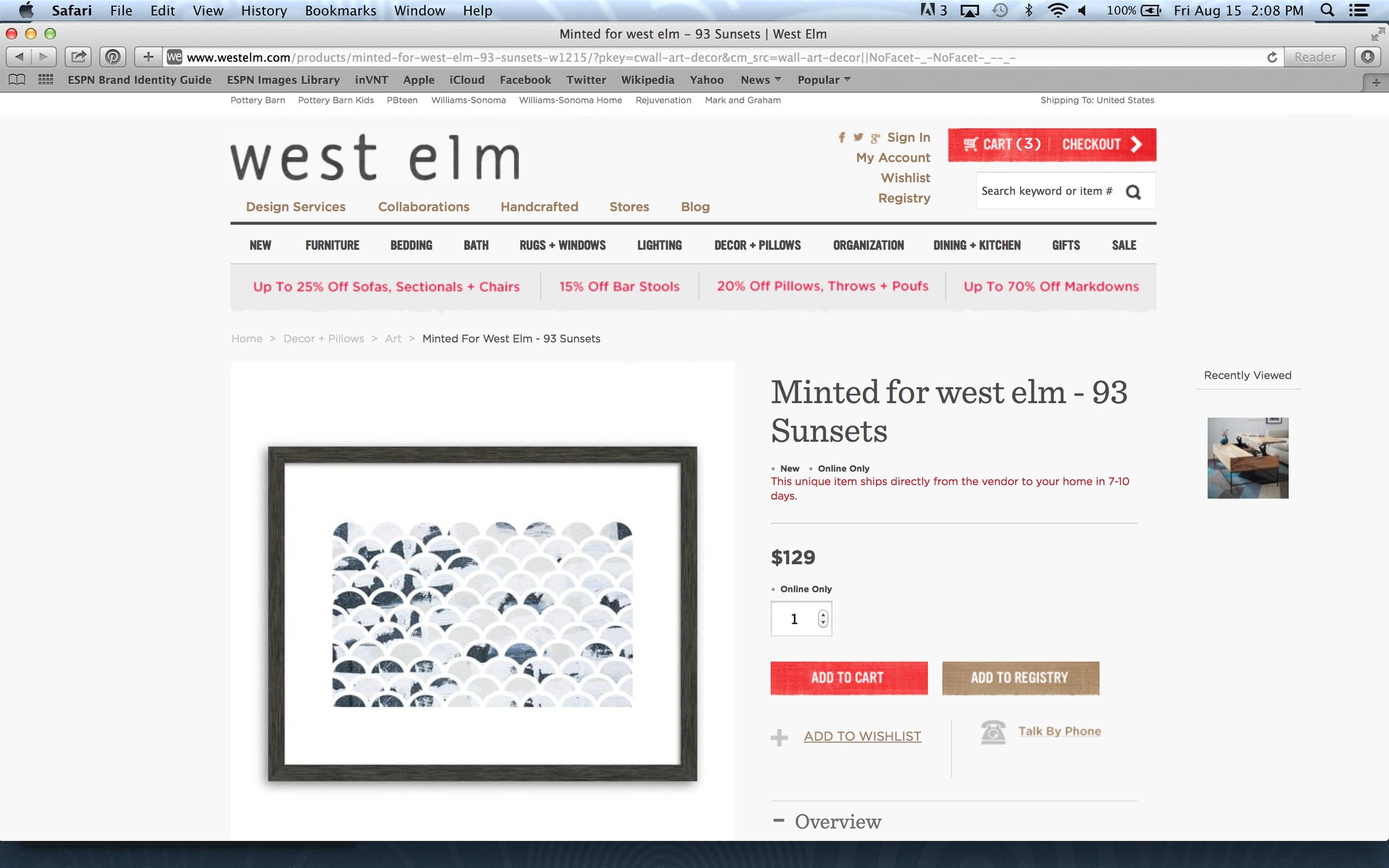 Award Winner - Art Print available at West Elm