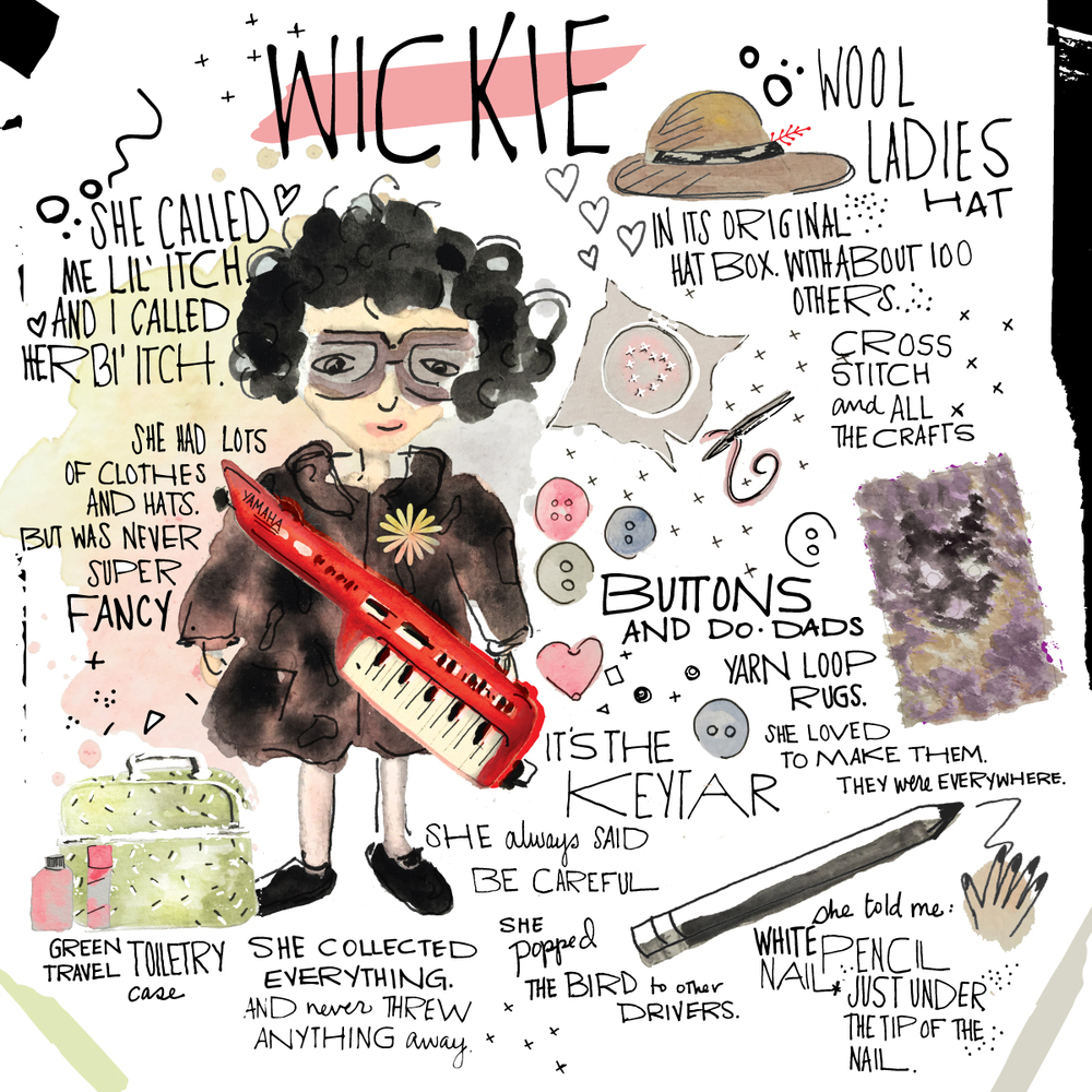 Work in Progress illustration of my Grandmom Wickie...check out the blog for more info!