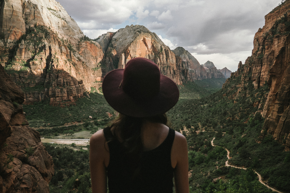 View from West Rim Trail to Angels Landing