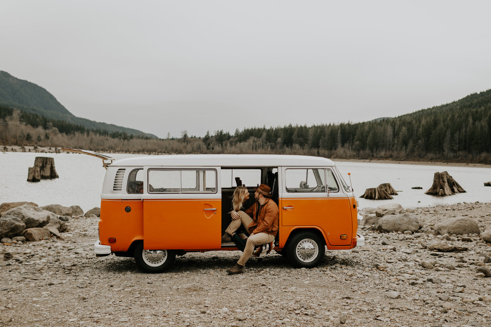 Brooke + Ryan  PNW VW Bus Session