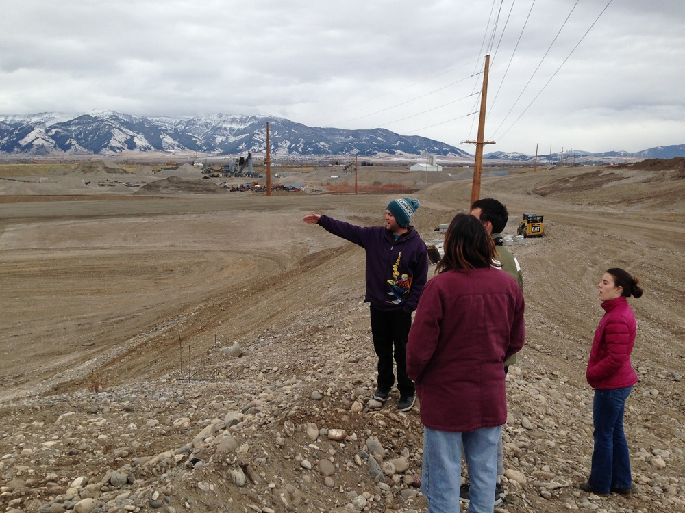 Students in GPHY 445 visit a development site in Gallatin County.