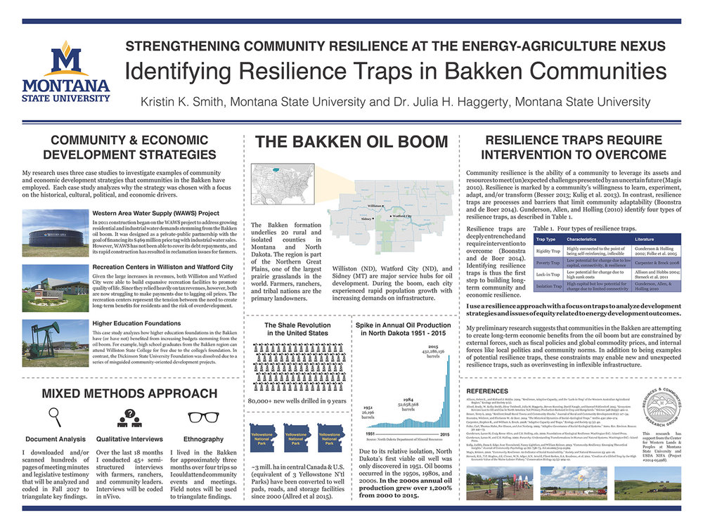 Strengthening Community Resilience at the Energy-Agriculture Nexus: Identifying Resilience Traps in Bakken Communities