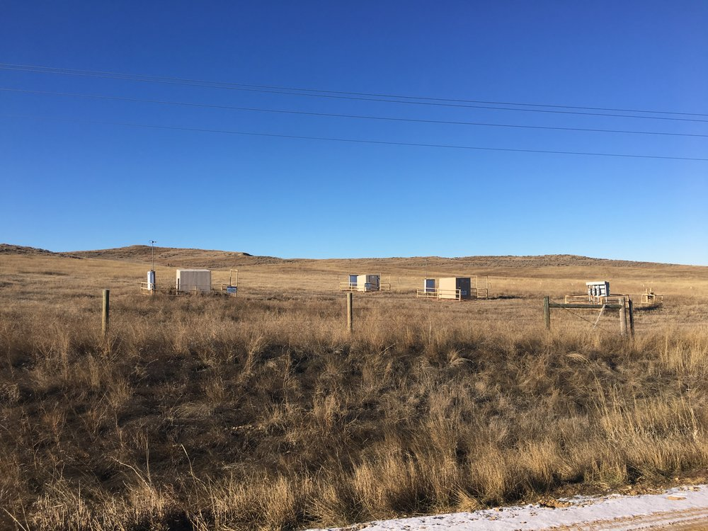 Collection of orphaned coalbed methane wells and electrical infrastructure, Sheridan County, WY
