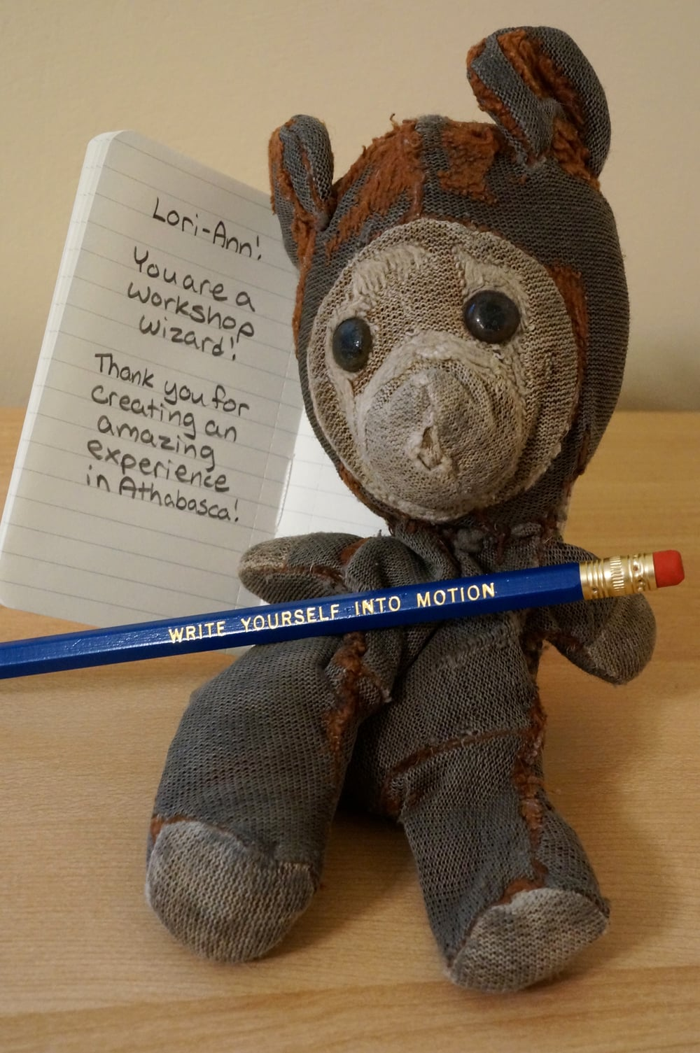 andy the bear likes northerly writing + yoga
