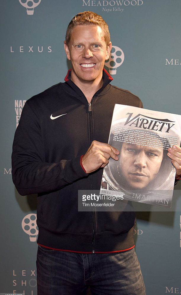 Producer and Olympic athlete Sky Christopherson at the Napa Valley Film Festival with Variety Magazine (Personal Gold mention) Photo courtesy Getty Images