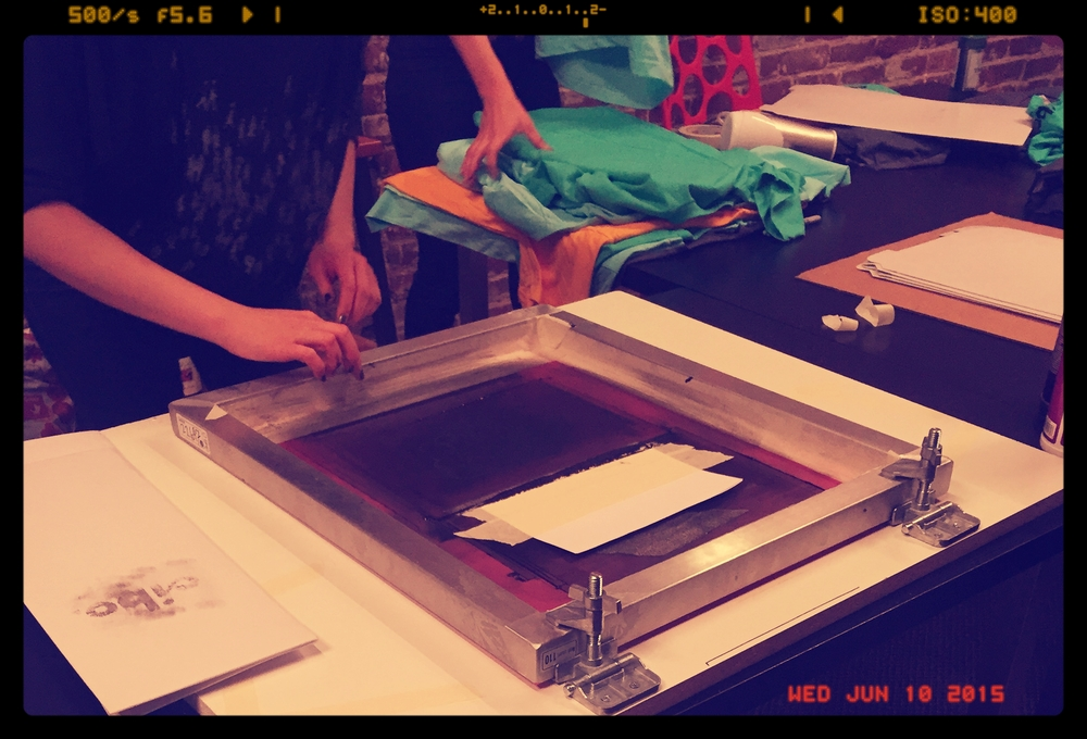 Cibo team pulling prints like champs.