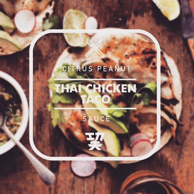 New taco alert: Thai Chicken with citrus peanut sauce! #CelebrateTheRemix RSVP to our REMIX launch party for free tacos:  http://www.kungfutacos.com/sports-1/remix-launch-party-kung-fu-tacos