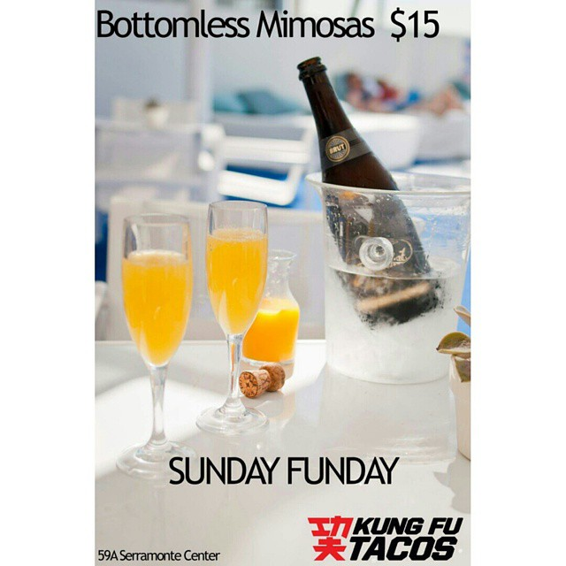 Sunday Funday!  Bottomless Mimosas in Daly City! #bottomlessmimosas  #sundayfunday  #kungfutacos