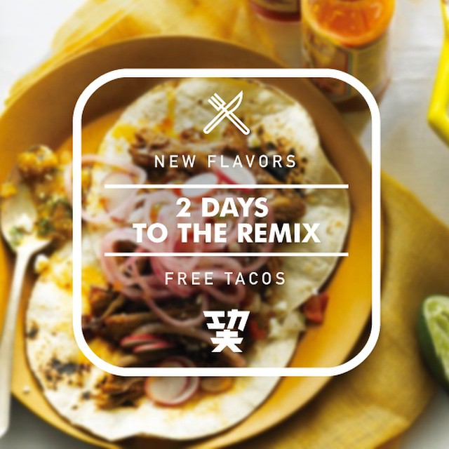 TWO days til the Kung Fu Tacos REMIX. Join us for our launch party with FREE TACOS and Fresh DJs #CelebrateTheRemix RSVP for FREE tacos: http://bit.ly/1uLGBFE