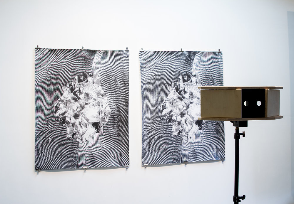 "Pensamiento by Pedro Wainer,Stereoscopic Silver Gelatin print, 88"" x 54"", 2017"