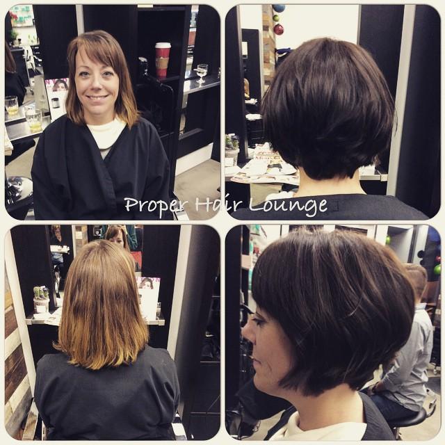 #properhairlounge #davines #davinesnorthamerica #colourchange #bob #hair #vancouverhair @caitannahoffart