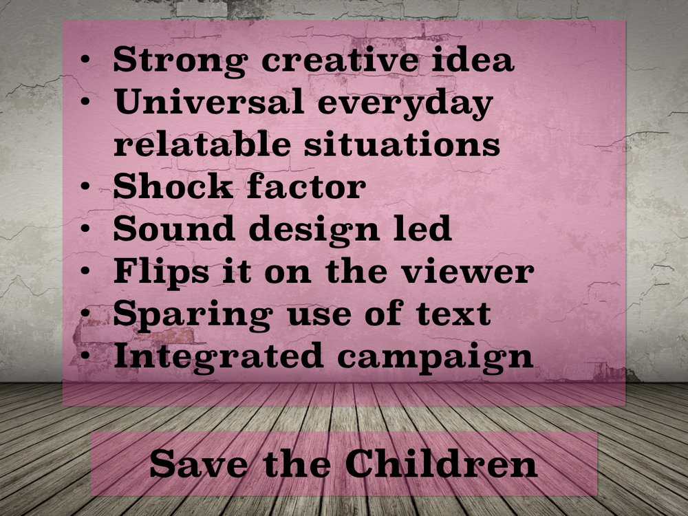 Best Charity Videos - Directors Perspective - Save The Children