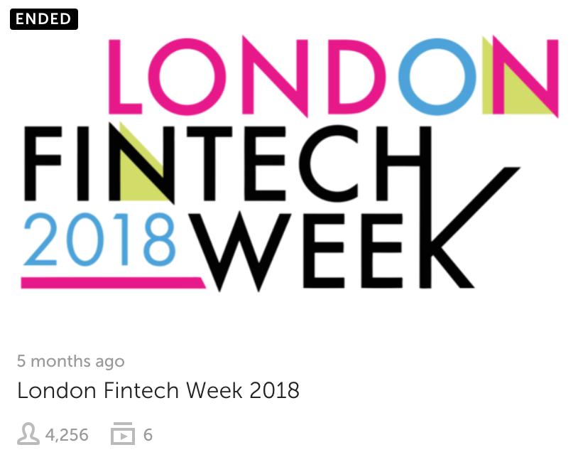 Fintech Week London 2018