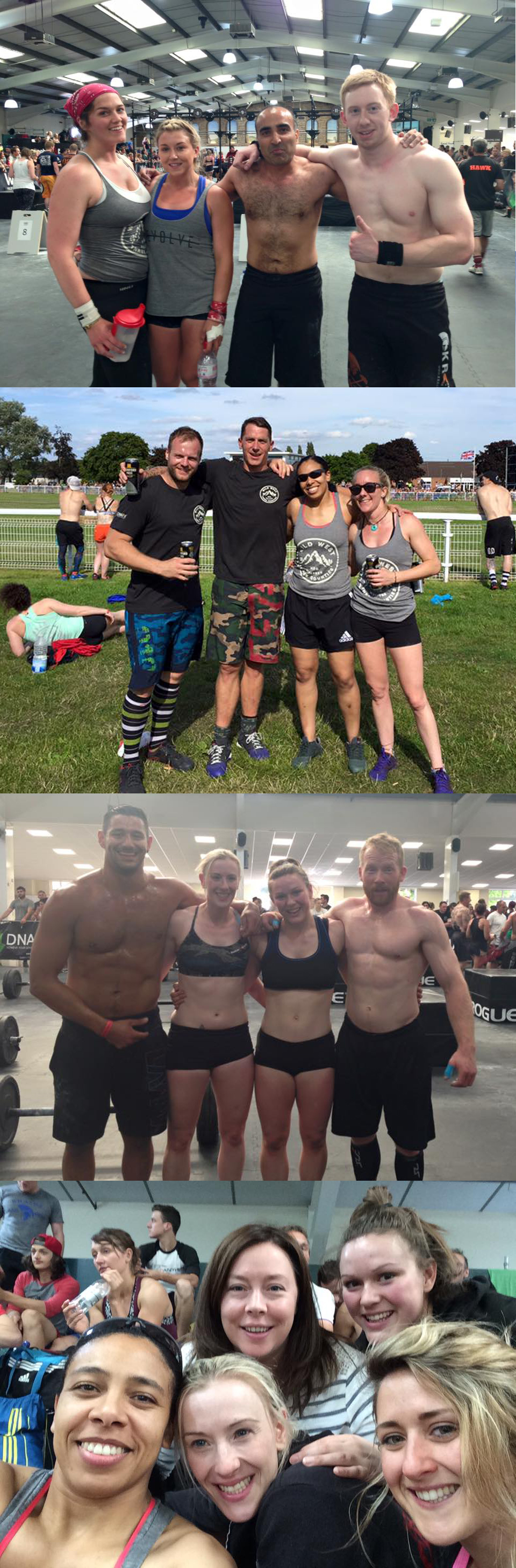 Some of the many faces repping Second City CrossFit this weekend