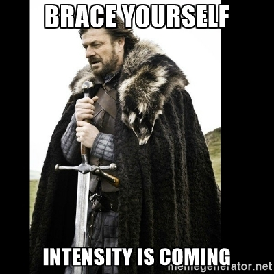 Thursday's classes found the true meaning of intensity...