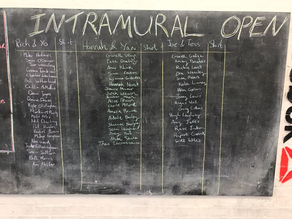 Do you have a team for the intramural open?