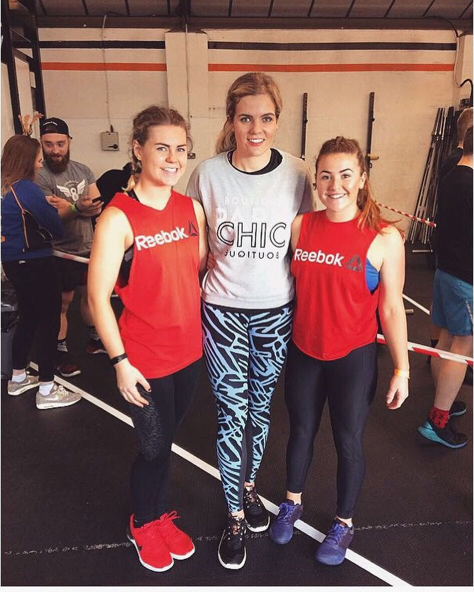 Tess, Shannon and Hannah at the Loughborough student throwdown