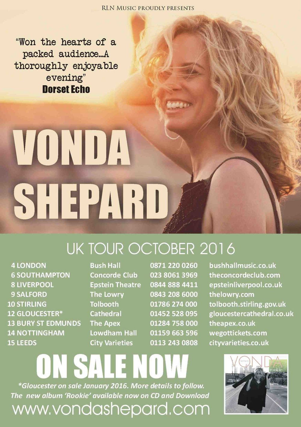 Make sure you catch Vonda Shepard on tour next month in the UK. Click on the picture for tickets.