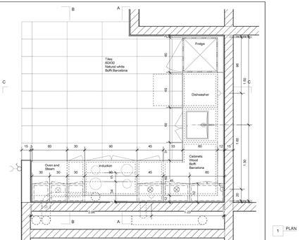 Detailplan Küche Deinbauprojekt