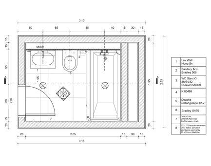 Detailplan Bad Deinbauprojekt
