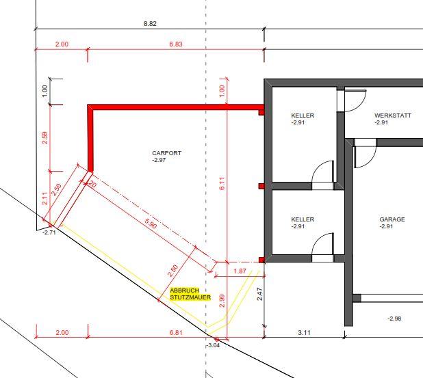 Baueingabe Plan Anbau Deinbauprojekt