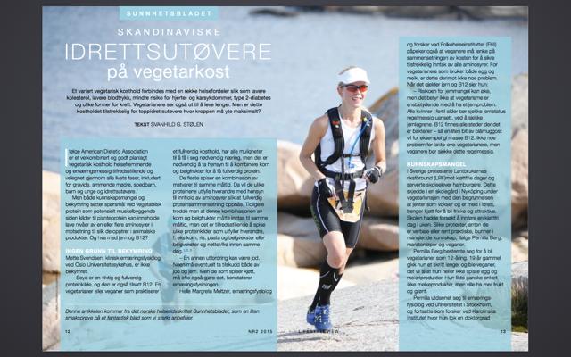 LifeStyleVIEW nr 2 2015, intervju Vegetarløperen.png