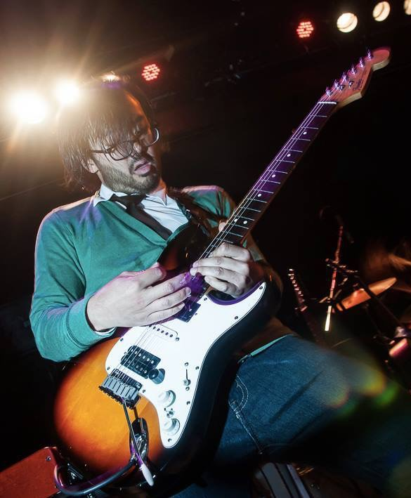 Performing with my Weezer tribute band The Sweater Songs at Bowery Ballroom.  NYC.  Summer 2013.