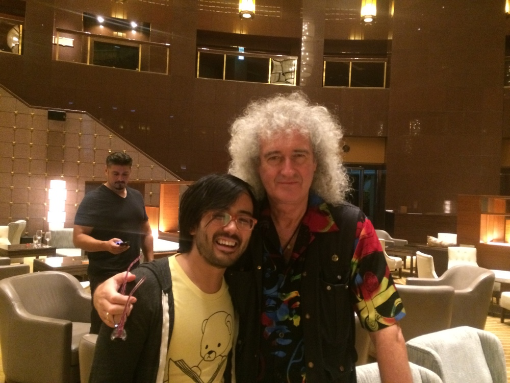 I met Brian May in Seoul!  Summer 2014.