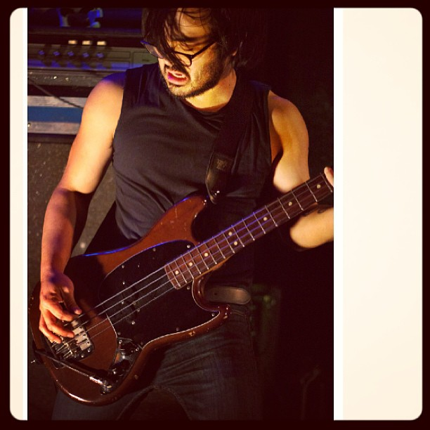 Playing bass for Fashion Week (the band) at Saint Vitus.  Spring 2013.