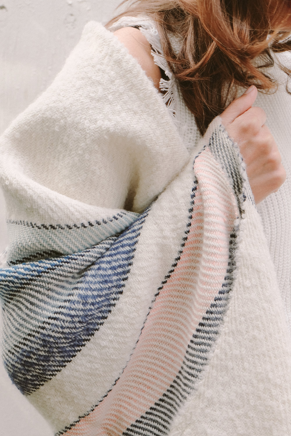 Leah wears: Alima throw/wrap | hand woven in Peru |  SHOP HERE