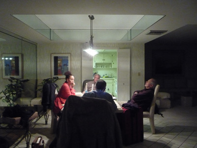 The first COHP task force meets in Miami, late into the night, with Forrest Broman, C   oordinator    of COHP.