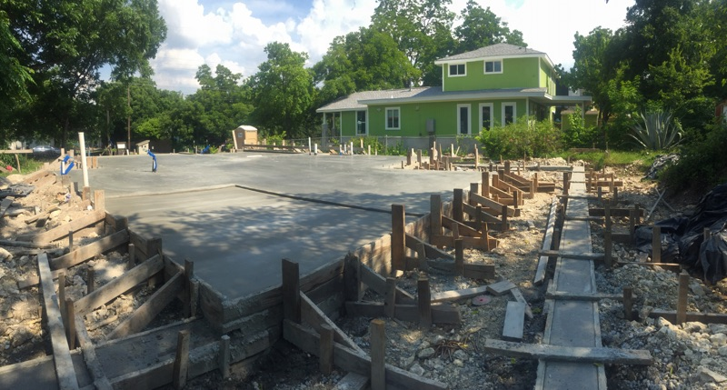 This corner is where the screened-in porch will be. Our outdoor deck will run the full length of the house.